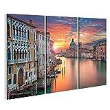 Bild Bilder auf Leinwand Venedig Bild von Canal Grande in Venedig, mit Santa Maria Della Salute Basilika Wandbild Leinwandbild Poster