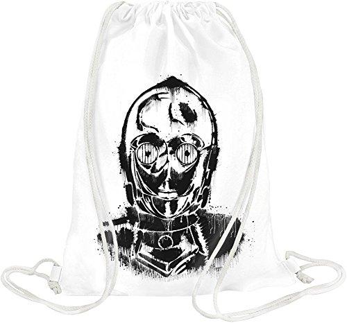 Humanoid Robot Drawstring bag
