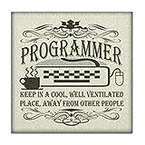 CafePress–Vintage Programmierer–Tile Untersetzer, Drink Untersetzer, Untersetzer, Klein