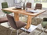 möbelando Esszimmertisch Küchentisch Säulentisch Esstisch Massivholztisch Tisch Greta V 160 cm