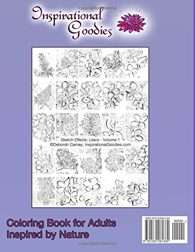Sketch Effects: Lilacs - Volume 1: Coloring Books for Adults: Volume 5 (Sketch Effects Coloring Books for Adults)
