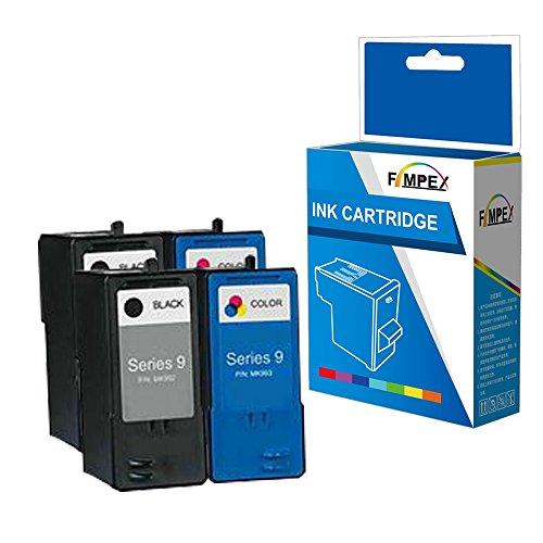 Fimpex Wiederaufbereitet Tinte Patrone Ersatz für Dell All In One 926 V305 V305W MK992H/MK993H (Schwarz/Tri-Colour, 4-Pack)