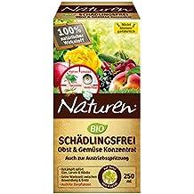 Naturen Bio Schädlingsfrei Obst- und Gemüse Konzentrat, Natürliches Mittel gegen Blattläuse, Spinnmilben, weiße Fliegen, Gallmilben und Schildlausarten sowie Schmierläuse und Wollläuse, 250 ml Flasche