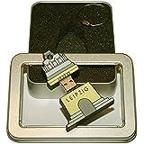 Souvenir Leipzig | Geschenkidee: USB-Stick mit Schlüsselanhänger in Form des Leipziger Völkerschlachtdenkmals für Frauen & Männer | inklusive Fotogalerie von Leipziger Sehenswürdigkeiten | Memory Stick 8 GB | CultourStix