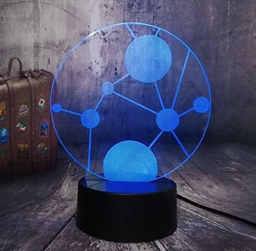 New Fiction Kunst Kreis Universum 3D Led Nachtlicht Dekoration Usb Schreibtisch Schlaf Lichter Kinder Spielzeug Weihnachtsgeschenke Geburtstagsgeschenke