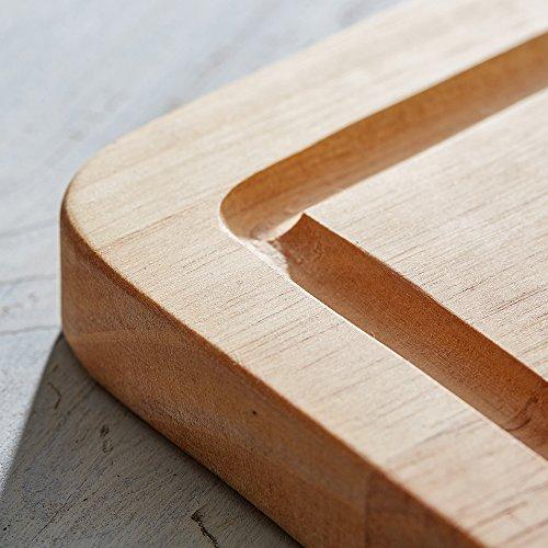 51QQ0xYWCkL - Schneidebrett aus Holz mit persönlicher Gravur für echte Grillmeister, als Küchenbrett, Holzbrett, Schneidbrett, Brotzeitbrett, tolle Geschenkidee als Geschenk für Männer zum Grillen, Motiv Grillmeister, ca. 40,5 x 28,5 x 2 cm