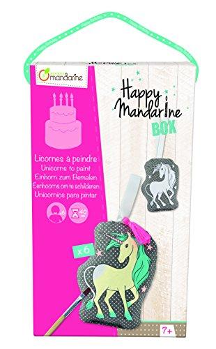 """Avenue Mandarine """"Einhörner zum Anmalen'Happy Box farblich Sortiert, Mandarine"""