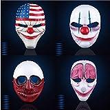 WSJDE Payday 2 Maske The Heist Dallas/Wolf/Ketten/Hoxton Cosplay Halloween Horror Kettensäge Clown...