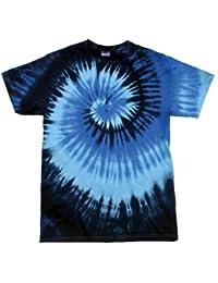 123t Tie Dye - Camiseta de manga corta, sencilla, diseño de arcoíris con técnica de teñido anudado (varios colores), tallas S, M, L, XL y 2XL azul Blue Ocean Medium