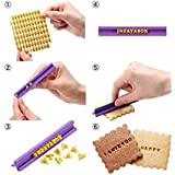 BeautyLife – ⓡ DIY Herramienta Fondant, Alfabeto Letras número Cookies Galletas Tartas Pasteles Sello Embosser