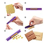 BeautyLifeⓇ DIY Fondant Werkzeug, Alphabet Buchstaben Anzahl Cookies Keks Torten Gebäck Stempel Embosser Prägestempel Ausstecher