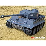 Melko RC PANZER - GERMAN TIGER 1:16 - Grau - inkl. Schussfunktion