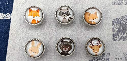 beperle Armband Lederarmband Kinderarmband Fuchs Hase Elch Bär Tier Tiermotiv weiß grau braun beige creme ()