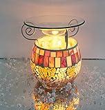 Feste Feiern Aromalampe Duftlampe Diffusor I Scentchips Mosaik Paris Glas Orange Gold Tiffany Style Duftwachs Duftöl Waxtards Teelichte