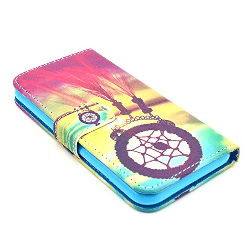 iPhone 6 6S Coque Portefeuille de NICA, Ultra-Fine Wallet-Case Housse Protection Flip-Cover Etui Pochette en Cuir Vegan, Bumper Mince pour Telephone Portable - Paris Love Edition Sunset Dreamcatcher Edition