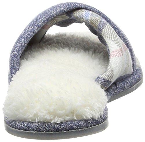 Dearfoams Damen Slide Pantoffeln Blau (Indigo)
