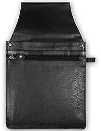 Gastro Kellnertaschenhalfter mit Kettenschlaufe, 100363 002, Damen und Herren Kellnerbörsenhalfter, Leder, schwarz
