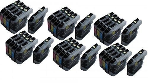Preisvergleich Produktbild Start - 30 XL Ersatz Chip Patronen kompatibel zu Brother LC-123BK XL Schwarz, LC-123C XL Cyan, LC-123M XL Magenta, LC-123Y XL Gelb für Brother DCP-J132W, DCP-J152, DCP-J4110, DCP-J552DW, DCP-J752DW, MFC-J245, MFC-J4310DW, MFC-J4410DW, MFC-J4510DW, MFC-J4610DW, MFC-J470DW, MFC-J4710DW, MFC-J475DW, MFC-J650DW, MFC-J6520DW, MFC-J6720DW, MFC-J6920DW, MFC-J870DW