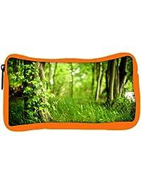 Snoogg Eco Friendly Canvas Green Grass Designer Student Pen Pencil Case Coin Purse Pouch Cosmetic Makeup Bag