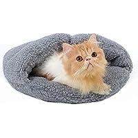 Bwiv Pet Sacco a Pelo Antiscivolo Dog / Cat dell'animale Domestico Cuscino Autunno e l'inverno Caldo Grigio S
