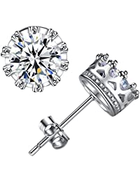 Womens Earrings High Quality Fine Jewellery Zirconia Diamond 925 Sterling Silver Stud Bride for Lady Girl