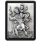 Auto Relief 3D Schild Heiliger Sankt Christophorus zum festschrauben 74 x 56 mm