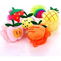 himki ducha esponja 4pieza Cuerpo Esponja de baño Mixta Color Frutas Masaje Esponja