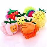 Himki Duschschwamm 4 Stück Körper Badeschwamm Mischfarbe Obst Massageschwamm