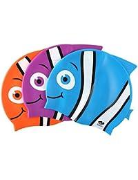 ShopNGift Children's Waterproof Earmuffs Cap Swim Cap Swimming Cap Unisex