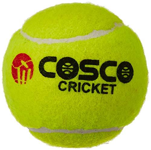 Cosco Cricket-Ball, Leicht, 6Stück (Gelb) (Cricket Ball,)