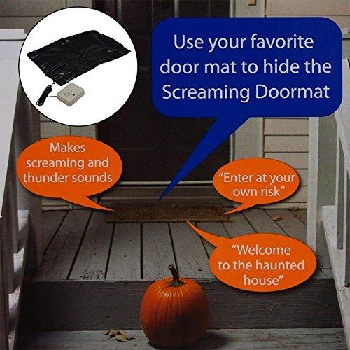 Kreischende Fußmatte für Halloween, Touch-Sensor aktiviert gruselige Geräusche