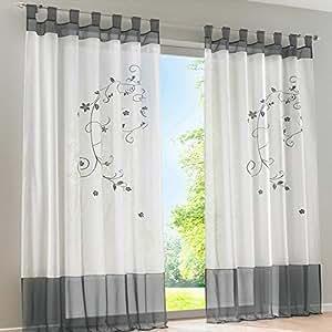 souarts 1pc rideaux voilages pattes rideaux de fenetre. Black Bedroom Furniture Sets. Home Design Ideas