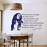 Famous Quotes for Celebrities, Bob Marley, Wall Stickers, Wall Decals for Living Room, Mermaid Design Home Decor