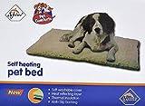 Tapis thermique pour chiens et chats Brillance antidérapant/Soft isolant Flock/simili Housse en laine Self Chauffage Confort