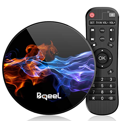 Bqeel Android 9.0 TV Box R1 MAX / 4G DDR3+128G EMMC/ RK3318 Quad-Core 64bit / Dual WIFI 2.4/5G + 100M LAN, TV box android Bluetooth 4.0/USB 3.0/ 3D 4K Android TV (4G+128G)