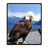 Custom Die Bald Eagle aus Wolle Decke für Bett oder Sofa, 50x 60(Zoll) über 127cmx152.4cm, Fleece, e, 50
