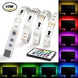 Led Strips,4*500mm Colour Changing USB LED TV Back Light -Mood Light Kit with IR Remote Control,Pangton villa (TM)