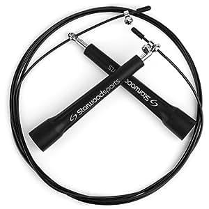 Corda per saltare regolabile - unisex - leggera e di qualità - cuscinetti in acciaio - CrossFit - pugilato - fitness - garanzia a vita - 3 m