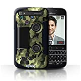 Stuff4 Hülle / Case für Blackberry Classic/Q20 / Grün Tarnung Muster / Playstation PS4 Kollektion