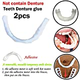 BZLine Colle Dentifrice 2pc, Cosmetic Teeth Sticker Colle Dentaire temporaire pour Dents de Sourire