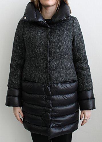 Patrizia Pepe Piumino Jacket Black & White Size 42 Made In Italy