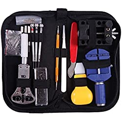 HDE Watch Repair Tool Kit Opener, Band Adjustment, Link Remover, Spring Bar with Carrying Case (147 PC Set)