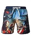Marvel - Captain America Zwembroek - Blauw Met Op Voorzijde Avengers Print - Maat L