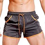 KPILP Herren Boxer Boxershorts Unterwäsche Sportswear Breathable Badehose Hosen Bademode Shorts Slim Wear Bikini Badeanzug Schwarz ( Grau,M