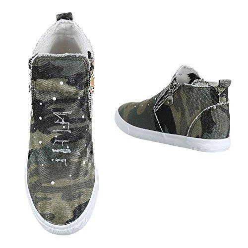 Ital-Design - Pantofole a Stivaletto Donna Verde