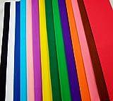 Clikkabox carta crespa in 14 colori vibranti per confezione,fogli piegati misura 150cm x50cm