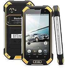"Blackview BV6000 - 32GB Smartphone libre Impermeable IP68 (Android 6, 4G Lte, Pantalla 4.7"", Cámara 13.0 Mp, OctaCore 2.0GHz, NFC, Dual SIM, 3GB RAM, Gorilla Glass 3), Negro y Amarillo"