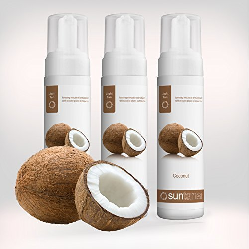 Suntana spray abbronzante cocco profumato 'leggero' autoabbronzante mousse - 3pz.