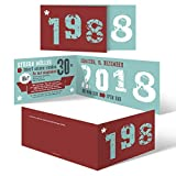 30 x Einladungskarten runder Geburtstag 30 Jahre Geburtstagseinladungen - Retro Geburtsjahr