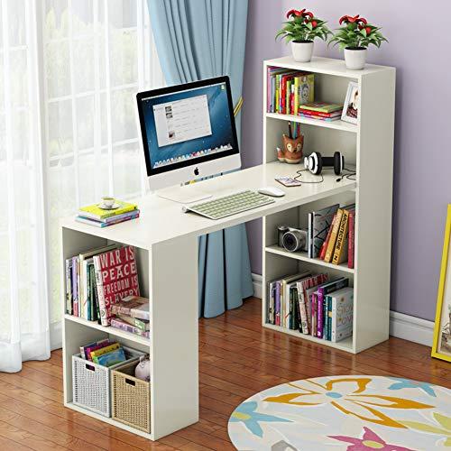 JiaQi L Förmige- Home Office Ecke Desk,große Computertisch,Holz Top Modernes Studio Desk Mit Bücherregal L Förmige- Computer Schreibtisch-b 120x48x120cm(47x19x47inch) -